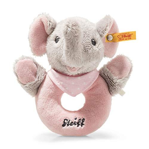 Steiff 241703 Trampili Elefant Greifring 13, Stoffspielzeug, grau
