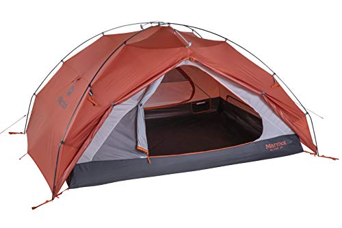 Marmot Unisex-Adult Alvar UL 2P Ultraleichtes Personen, kleines 2 Mann Trekking, Camping Zelt, absolut wasserdicht, Burnt Ochre