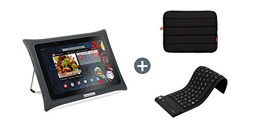 QOOQ - Tablette Culinaire Ultimate V5 + Clavier Silicone + Housse de Transport - Tablette Android de...