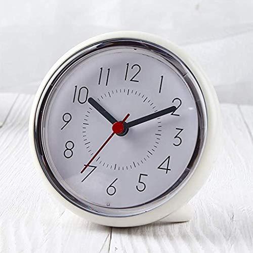 GYL Reloj de Pared para baño, Ventosa Impermeable, silencioso, sin tictac, para Escritorio, Dormitorio, hogar (Blanco)