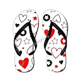Conjunto de chanclas de estrellas y corazones dibujados a mano con elementos cómodos sandalias de alberca para hombres y mujeres