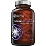 Organic Evening Primrose Oil | Clinical Strength 1,500 mg | 10% GLA | Cold-Pressed, Non-GMO | Hormone Balance for Women | Menopause and PMS Relief | 120 Vegan softgel Capsules