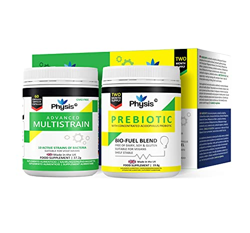 Physis Advanced Multistrains and Prebiotic Bio Cultures Value | 60 Capsules Each...