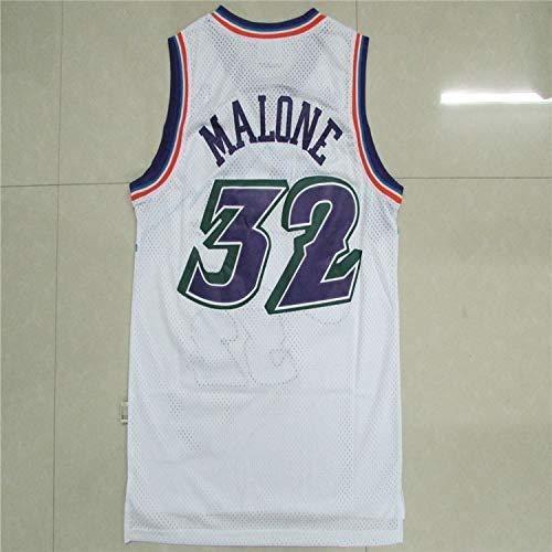XIETARPAULIN Jerseys de Baloncesto de los Hombres, Jazz de Utah # 32 Karl Malone, Retro Baloncesto Jersey Sport Chaleco Top Camiseta sin Mangas (Size : XL)