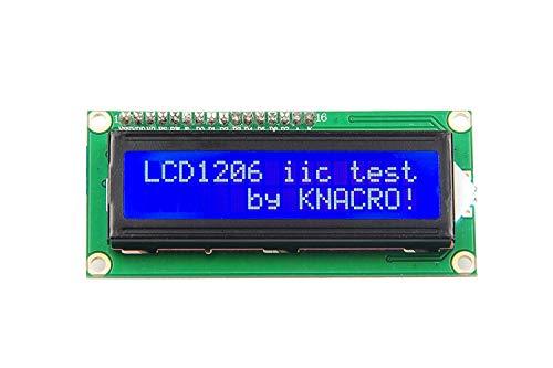 KNACRO IIC I2C TWI 1602 Serielle blaue Hintergrundbeleuchtung LCD-Modul für Arduino UNO R3 MEGA2560 16 X 2, 1602 weiße Buchstaben auf blauem Display (2 Stück)