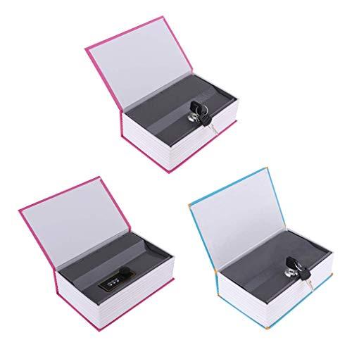 WMYATING El joyero Tiene una Forma novedosa y única, un DIS Libro de 3 Paquetes Buchsafe Cassette de Dinero ficticio Disfrazado de un Libro