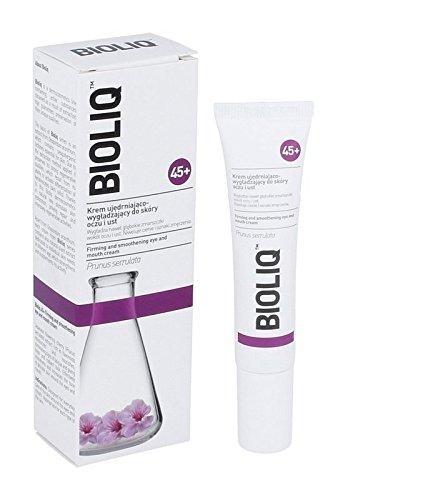 bioliq 45+ Straffende und smoothening Augen und Mund creme–15ml–Glättet Tiefe Falten um Augen und Lippen. Reduziert Augenringe und Symptome von Stress.