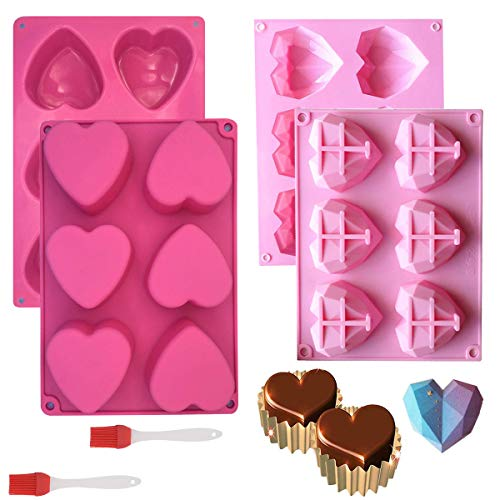 (60% OFF) 2pcs Heart Silicone Molds $10.62 – Coupon Code
