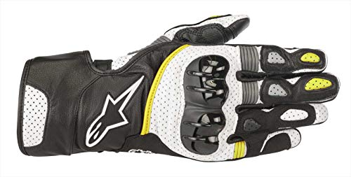 Alpinestars Gants moto Sp-2 V2 Gloves Black White Yellow Fluo, Noir/Blanc/Jaune, XXL