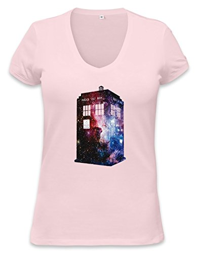 Galaxy Time Machine Womens V-neck T-shirt Small