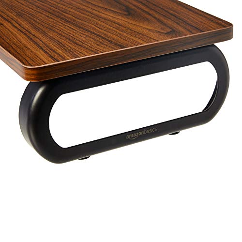 Amazon Basics - Holz-Monitorständer, Computer-Erhöhung, Walnuss