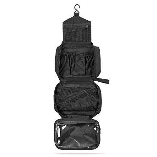 SWISSONA Premium Kulturbeutel, wasserdicht und aufhängbar, ideal für Reisen, Netz- und Reißverschluss-Fach | Kulturtasche, Kosmetiktasche, Toiletry Bag