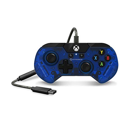 Hyperkin X91 Ice Wired Controller for Xbox One/ Windows 10 PC (Pacific Blue) - Officially Licensed By Xbox - Xbox One