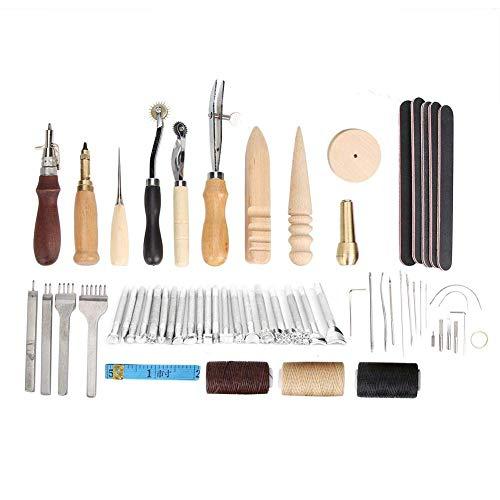 ZYL-YL 19pcs Handgefertigte Lederkombis Werkzeuge Schlags Edger Groover Geräte Gürtel Puncher