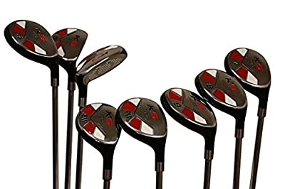 """Senior Men's Majek Golf All Hybrid Complete Full Set, which includes: #3, 4, 5, 6, 7, 8, 9, PW Senior Flex Total of 8 Right Handed New Rescue Utility """"A"""" Flex Clubs"""