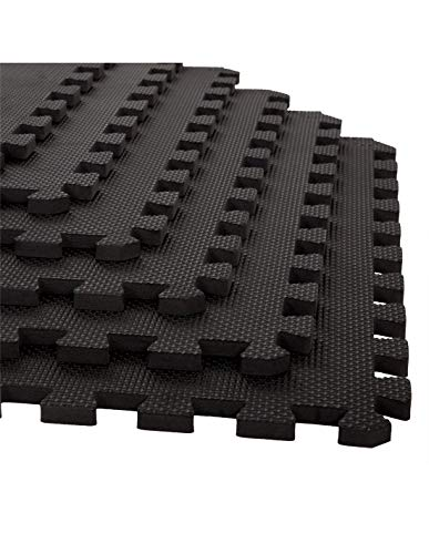 Jardin202 - Esterilla Puzzle para Suelos de Gimnasio y Fitness | Protección de Goma Espuma, Tatami Puzzle Expandible 4 Unid 60x60