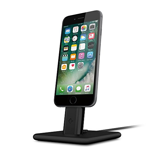 Twelve South HiRise 2 Deluxe for iPhone/iPad, black | Adjustable charging stand with Lightning + Micro-USB cables