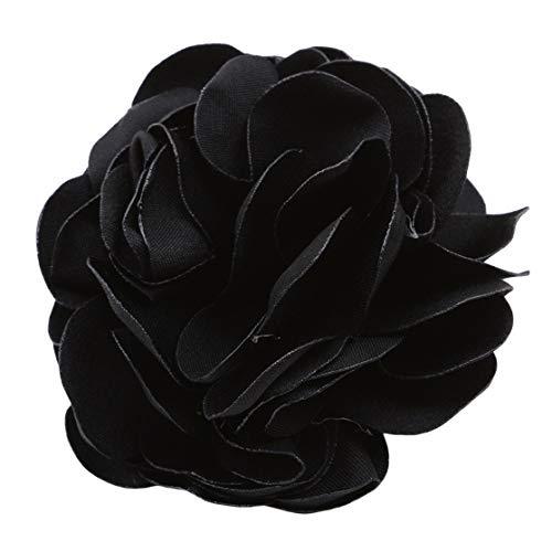 PXSTYLE Einfache Simulation Elegante Blumenkopfbedeckung für Frauen und Mädchen,Schwarz