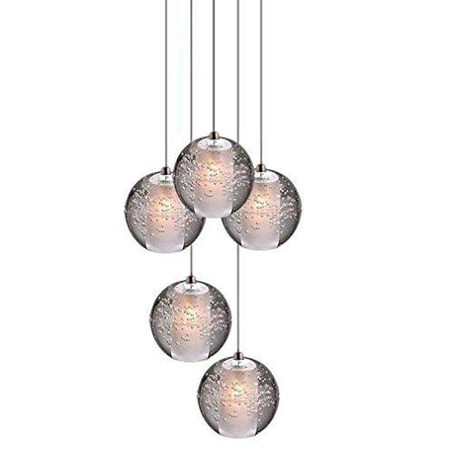 LED Hängeleuchten Kronleuchter Deckenleuchte G4-LED Kristallkugel Pendelleuchte Kronleuchter, Wohnzimmer Dachgeschoss Licht Treppe Foyer Restaurant Bar Schlafzimmer Chrom Hängelampe A+