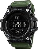 SKMEI Digital Men's Watch (Black Dial Green Colored Strap)