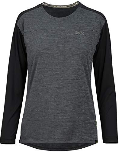 IXS Flow X Damen Langarm Jersey Graphite-Solid Black 40