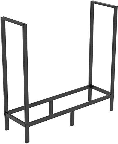 FOYUEE Firewood Rack Indoor/Outdoor 4 Ft Log Holder - Stable & Secure
