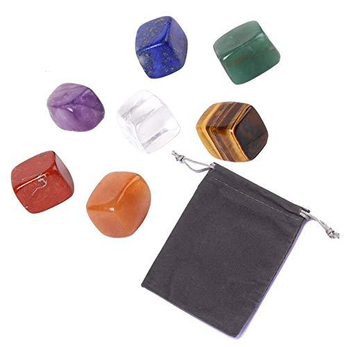 YBDZ Natural 7 Colors/Set Yoga Stone Chakra Stone Irregular Crystals Stone Individual (Color : 7pcs)