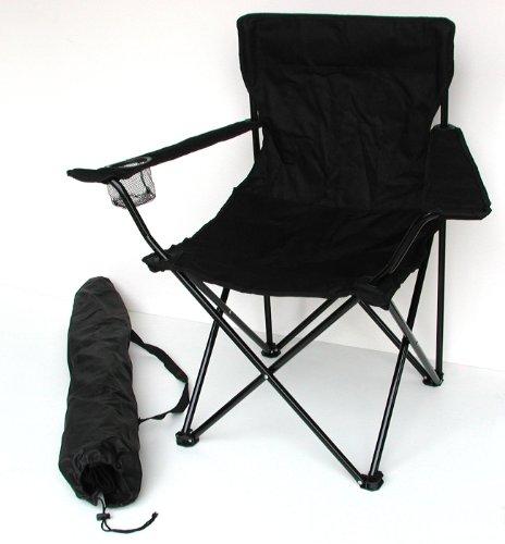 Sillón de pesca, camping–Silla plegable con soporte para bebidas y funda–Varios colores,...