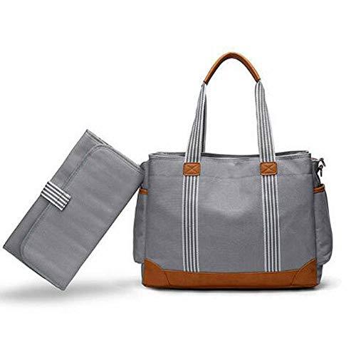 Etyybb Bolso Cambiador de Pañales Bolso de Lona Elegante Bolsa de Pañales para Bebés con Cambiador para Viajes