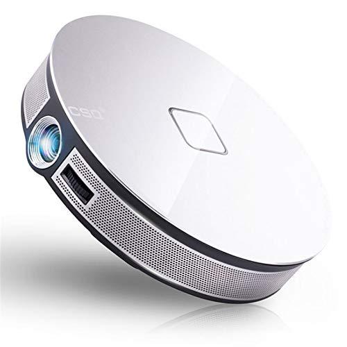 Proyector de vídeo de cine en casa Proyector, mini proyector portable 1080P HD del proyector de película, 3800 lúmenes Android 6.1 Bluetooth Wifi Proyector DLP 2 GB de RAM proyectores LED for cine en