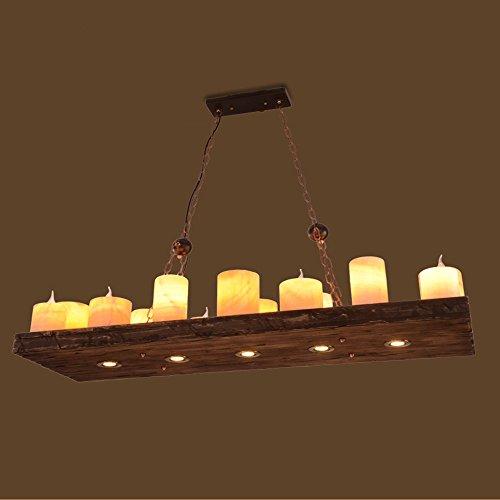 LED/ American Retro-industrielle Wind bar-Café-Restaurant kreative Holzkunst Kerze Halter Kronleuchter