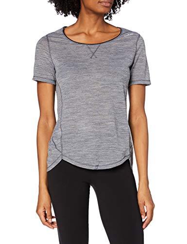 Odlo Revolution TW Light T-Shirt Manches Courtes Femme, Grey Melange, FR : M (Taille Fabricant : M)