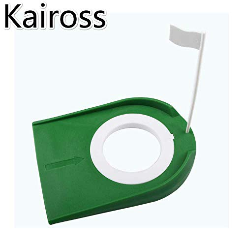 Kaiross Golf Plástico Putter Disc Green Golf Putter Disc Putter Interior Disco De Práctica Las Herramientas Verdes Se Pueden Plegar Varillas De Empuje Suministros De Golf Verde