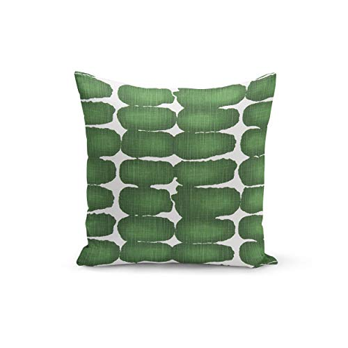 Ad4ssdu4 Kust Decor Premier Prints Shibori Dot Pine Slub Canvas Groen Kussen Cover voor uw Modern Decor Gemaakt om te bestellen