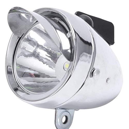 Hiinice Jefe de la lámpara LED Linterna de la Bici Metal Shell Seguridad Noche la luz Delantera de la Bicicleta