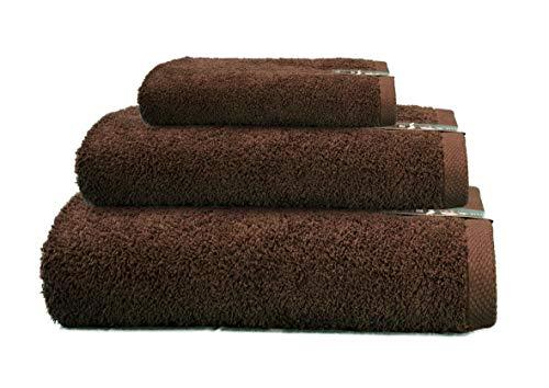 ADP Home - Juego de Toallas 550 Grms 3 Piezas (Toalla Sábana/Baño, Lavabo/Mano, Tocador) 100% Algodón Peinado - Color: Chocolate ✅