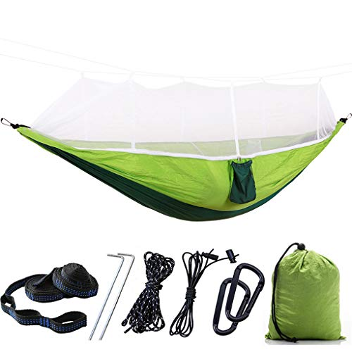 Aawsome Portable Camping Hammock with Mosquito Net Outdoor Hiking Hammock Tent Swing for Travel, Beach, Backyard Etc