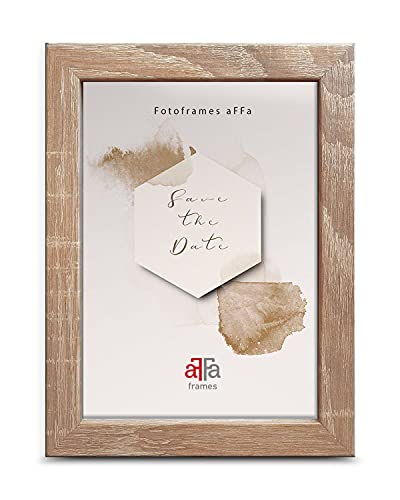 AFFA, Hekla, cornice per foto in MDF, di facile manutenzione, rettangolare, con vetro acrilico, quercia chiaro, formato A4, 21 x 29,7 cm