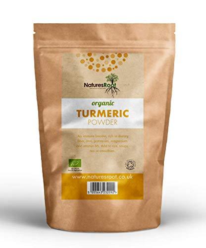 Nature's Root Organic Turmeric Powder 125g - Curcumin Superfood | Ground Turmeric Root | Raw | Kosher | Vegan