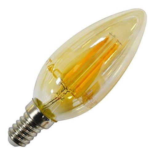 LED4462 | Mod. VT-1982 LAMPE LED E14 4W WARM WARM WARM WEISS GARN MIT KERZE