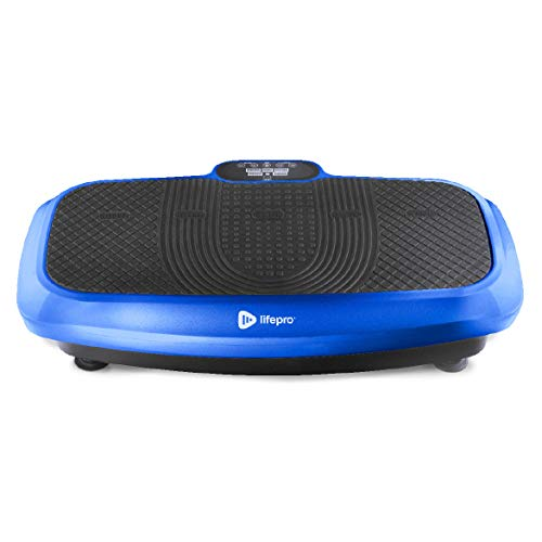 LifePro 3D Vibration Plate Exercise Machine - Dual Motor Oscillation, Pulsation 3D Motion Vibration Platform - Full Whole Body Vibration Machine for Home Fitness & Weight Loss. (Blue) from LP