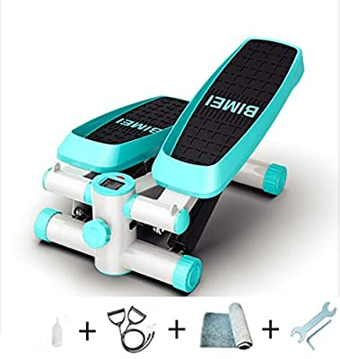 JXH Stepping Machine in Situ Mountaineering Pedal Machine Mute Weight Loss Machine Aerobic Exercise Fitness Equipment Indoor Small Stovepipe Machine, All-Round Shaping Exercise,Green