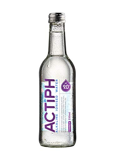 ACTIPH Water, Alkaline Ionised Water, pH9 or Higher, Glass Bottle 330ml (Pack of 24)