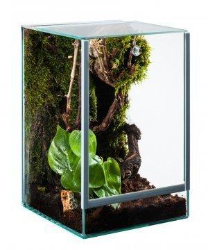 Glas Terrarium Glasterrarium 15x15x20 15 20 Falltür