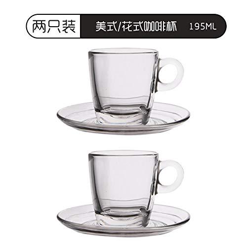 Glaseres Taza de café resistente al calor, para capuchino, flores, para expreso, hogar, 195 ml