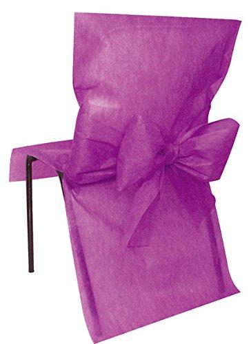 10 Housses de chaise Prune - taille - Taille Unique - 212667