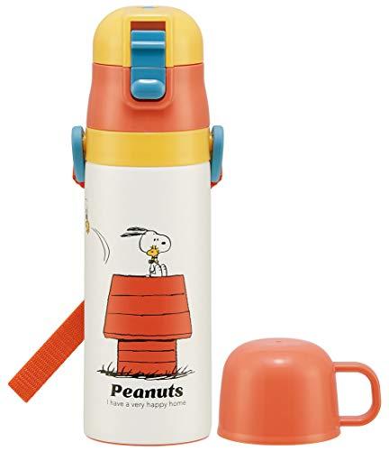 スケーター 子供用 2WAY ステンレス 水筒 コップ付き ピーナッツ レトロ スヌーピー 430ml SKDC4