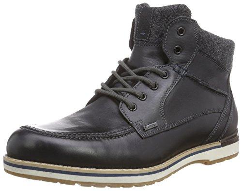 Fretz Men Cooper Kurzschaft Winter-Boots, GORE-TEX Winterschuhe Herren, rutschfeste Profil-Sohle, edles Rindleder, 100% wasserdicht und warm, Schwarz (51 Noir), Größe 42 EU