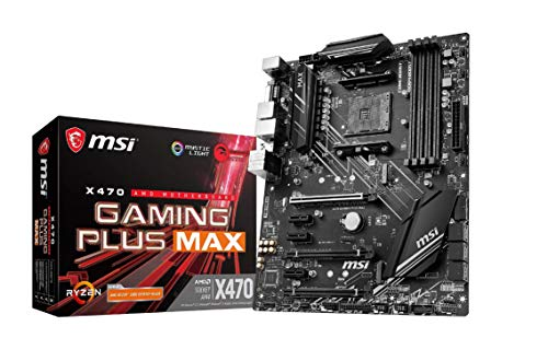 MSI CM X470 Gaming Plus Max AM4/ATX/PCI-E 7658/P2+A Carte mère de Jeu