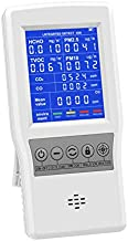 HYVQDNM Air Quality Monitor Indoor for CO2 CO Formaldehyde(HCHO) TVOC PM2.5/PM10 Multifunction Air Quality Detector Real Time Data&Mean Value Recording for Home Office Car School etc